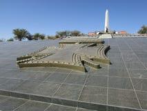 Взгляд акра героев официальный военный мемориал в республике Намибии Стоковые Изображения RF
