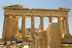 Взгляд акрополя Atenas Греции Стоковое Фото