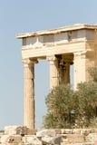 Взгляд акрополя Atenas Греции Стоковое Изображение