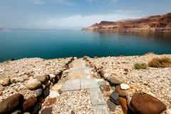 Взгляд ландшафта береговой линии мертвого моря Стоковые Фото