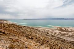 Взгляд ландшафта береговой линии мертвого моря Стоковые Изображения