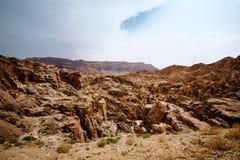 Взгляд ландшафта береговой линии мертвого моря Стоковая Фотография RF