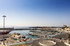 Взгляд ландшафта испанского портового города Стоковое Изображение RF