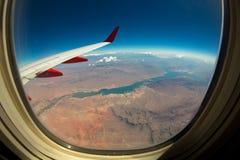 Взгляд ландшафта Невады от неба Стоковое фото RF