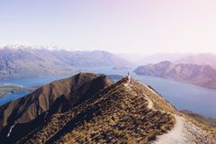 Взгляд ландшафта Новой Зеландии красивый Стоковое Фото