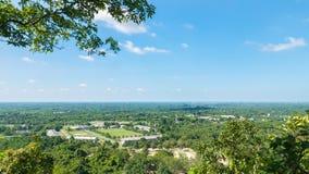 Взгляд ландшафта от горы ito Khao Prachin Buri, Таиланд Стоковые Изображения RF