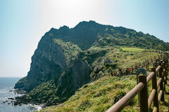 Взгляд ландшафта от Seongsan Ilchulbong стоковое изображение rf