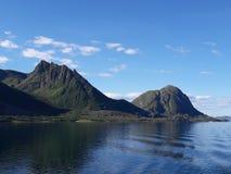 Взгляд 1 ландшафта побережья Норвегии Стоковое Фото