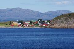 Взгляд 2 ландшафта побережья Норвегии Стоковая Фотография