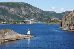 Взгляд 4 ландшафта побережья Норвегии Стоковые Фото