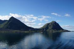 Взгляд ландшафта побережья Норвегии Стоковое Изображение RF