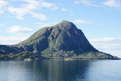 Взгляд ландшафта побережья Норвегии Стоковые Фото