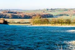 Взгляд ландшафта сельской местности в Великобритании Стоковые Фотографии RF