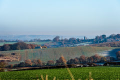 Взгляд ландшафта сельской местности в Великобритании Стоковое Фото