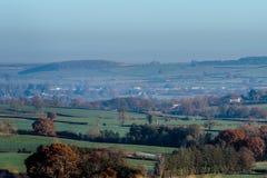Взгляд ландшафта сельской местности в Великобритании Стоковое фото RF