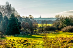 Взгляд ландшафта сельской местности в Великобритании Стоковое Изображение