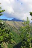 Взгляд ландшафта скалистых гор Стоковое Изображение RF