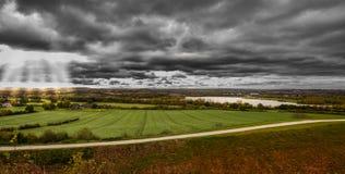 Взгляд ландшафта утра панорамный Стоковая Фотография