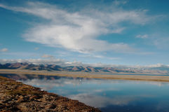 Взгляд ландшафта Namtso Стоковые Изображения RF