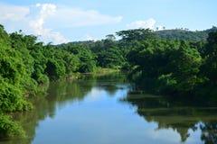 Взгляд ландшафта Tamparuli в Сабахе, Малайзии Стоковая Фотография