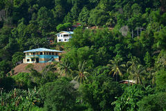 Взгляд ландшафта Tamparuli в Сабахе, Малайзии стоковое изображение