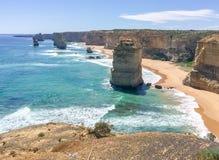 Взгляд 12 апостолов, Австралия захода солнца панорамный Стоковое фото RF