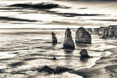Взгляд 12 апостолов вдоль большой дороги океана, Австралии Стоковое Изображение RF