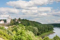 Взгляд архитектурного ансамбля столетия XVIII Liskiava Литва стоковое фото rf