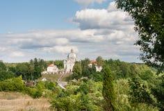 Взгляд архитектурного ансамбля столетия XVIII Liskiava Литва стоковое изображение