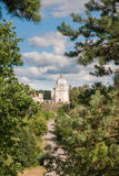 Взгляд архитектурного ансамбля столетия XVIII Liskiava Литва стоковая фотография rf