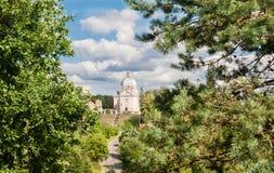 Взгляд архитектурного ансамбля столетия XVIII Liskiava Литва стоковое изображение rf