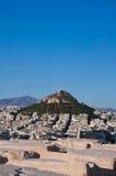 Взгляд Афин и Mount Lycabettus, Греции. стоковая фотография rf