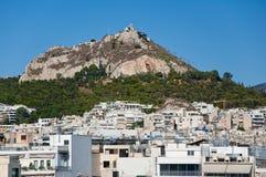 Взгляд Афин и Mount Lycabettus, Греции. стоковая фотография
