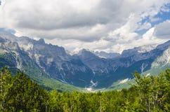 Взгляд албанца Альпов Стоковая Фотография