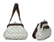 2 взгляда серой сумки женщин Стоковые Изображения RF