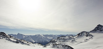 Взгляд альп Стоковое Фото