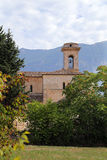 Взгляд базилики Valvense Сан Pelino в Corfinio, L'Aquila Стоковое Изображение