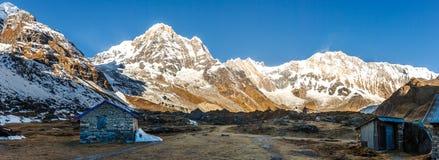 Взгляд базового лагеря Annapurna, Непал стоковые изображения rf