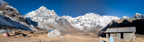 Взгляд базового лагеря Annapurna, Непал Стоковая Фотография RF