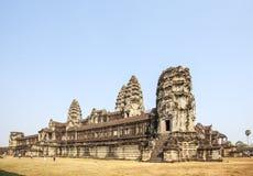 Взгляд башен в Angkor Wat, Siem Riep, Камбодже Стоковые Фото