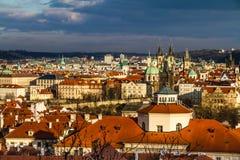 Взгляд башен Praque - Прага, чехия Стоковое Изображение RF