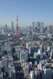 Взгляд башни города токио Стоковые Изображения RF