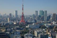 Взгляд башни города токио Стоковое Изображение