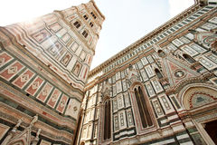 Взгляд башни колокола собора Santa Maria del Fiore, Firenze, Италии Стоковое Изображение RF
