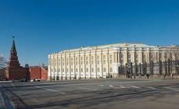Взгляд башни Кремля камеры и Borovitskaya Armoury Стоковое фото RF