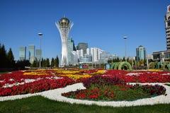 Взгляд башни BAITEREK в Астане Стоковое Фото