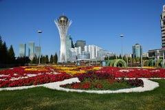 Взгляд башни BAITEREK в Астане Стоковые Фотографии RF