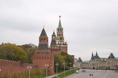Взгляд башни Spasskaya Москвы Кремля Стоковые Фото
