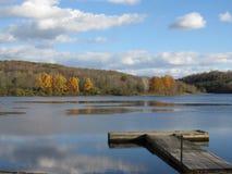 Взгляд берега озера стоковая фотография