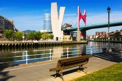 Взгляд Бильбао Мост Salve Ла Стоковое Изображение